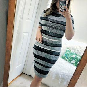 Striped Ribbed Sweater Dress TATBILB vibes